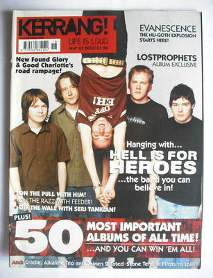 <!--2003-05-03-->Kerrang magazine - Hell Is For Heroes cover (3 May 2003 -