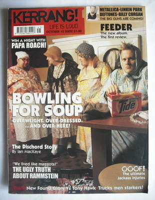 <!--2002-10-12-->Kerrang magazine - Bowling For Soup cover (12 October 2002
