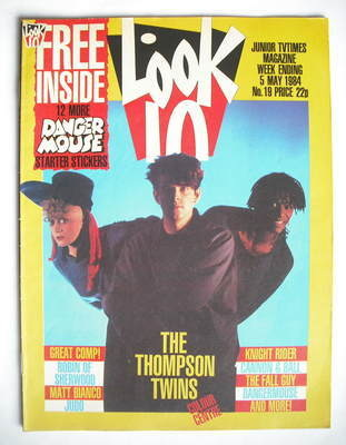 <!--1984-05-05-->Look In magazine - The Thompson Twins cover (5 May 1984)