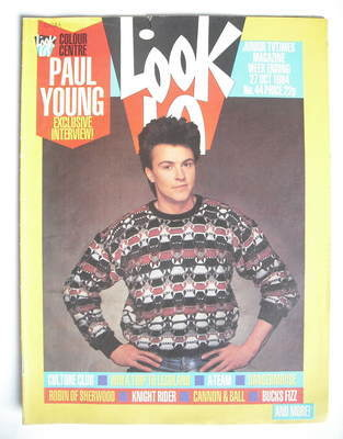 <!--1984-10-27-->Look In magazine - Paul Young cover (27 October 1984)