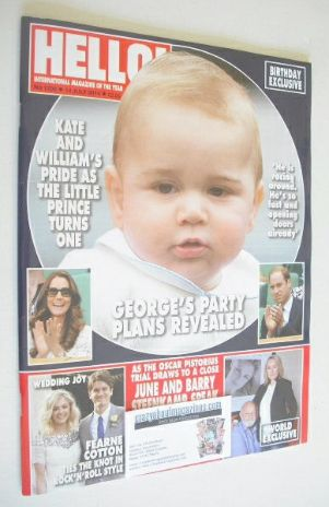 <!--2014-07-14-->Hello! magazine - Prince George cover cover (14 July 2014