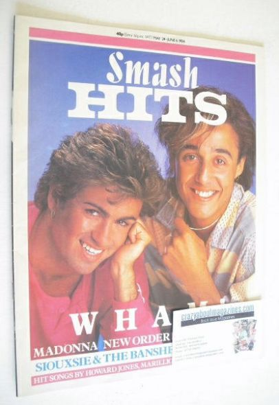 <!--1984-05-24-->Smash Hits magazine - George Michael and Andrew Ridgeley c