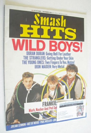<!--1984-10-25-->Smash Hits magazine - Frankie Goes To Hollywood cover (25