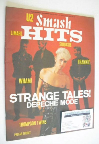 <!--1984-11-22-->Smash Hits magazine - Depeche Mode cover (22 November - 5