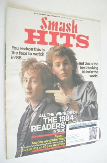 <!--1984-12-20-->Smash Hits magazine - John Taylor and Julian Lennon cover