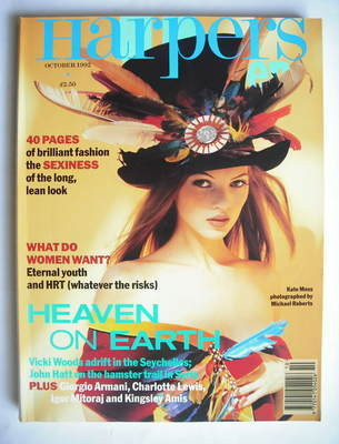 <!--1992-10-->British Harpers & Queen magazine - October 1992 - Kate Moss c