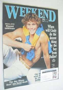 <!--1984-04-04-->Weekend magazine - Chris Atkins cover (4-10 April 1984)