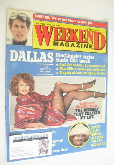 <!--1986-03-18-->Weekend magazine - Susan Tully cover (18 March 1986)