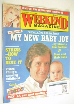 Weekend magazine - William Roache cover (17 June 1986)
