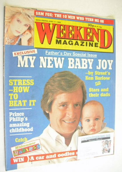 <!--1986-06-17-->Weekend magazine - William Roache cover (17 June 1986)