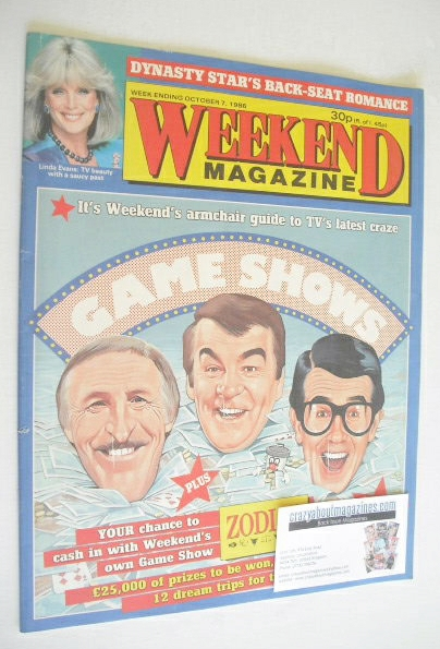 <!--1986-10-07-->Weekend magazine - Game Shows cover (7 October 1986)