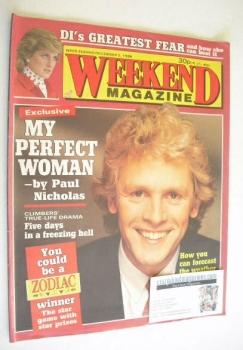 Weekend magazine - Paul Nicholas cover (2 December 1986)