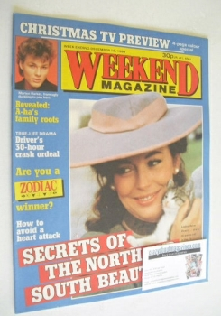 Weekend magazine - Lesley-Anne Down cover (16 December 1986)