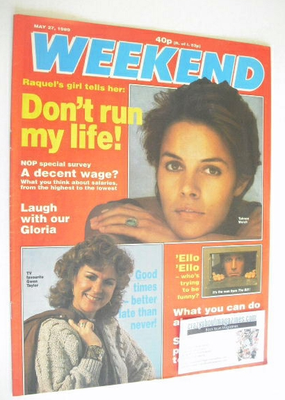 <!--1989-05-27-->Weekend magazine - Tahnee Welch cover (27 May 1989)