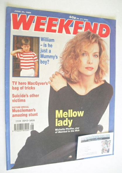 <!--1989-06-24-->Weekend magazine - Michelle Pfeiffer cover (24 June 1989)