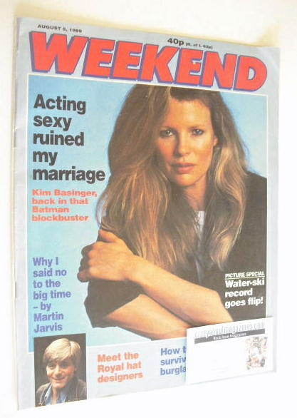<!--1989-08-05-->Weekend magazine - Kim Basinger cover (5 August 1989)