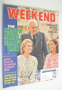 Weekend magazine - Prince Rainier III, Princess Grace and Stephanie cover (5-11 March 1980)