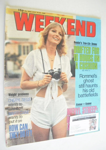 <!--1980-07-16-->Weekend magazine - Cheryl Tiegs cover (16-22 July 1980)