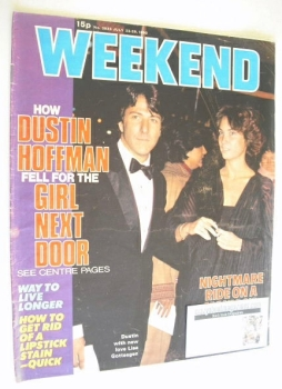 Weekend magazine - Dustin Hoffman cover (23-29 July 1980)