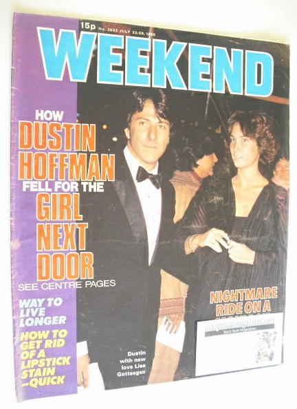 <!--1980-07-23-->Weekend magazine - Dustin Hoffman cover (23-29 July 1980)