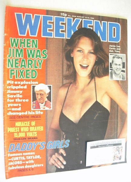 <!--1980-08-13-->Weekend magazine - Jamie Lee Curtis cover (13-19 August 19