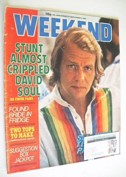 <!--1980-08-27-->Weekend magazine - David Soul cover (27 August - 2 Septemb