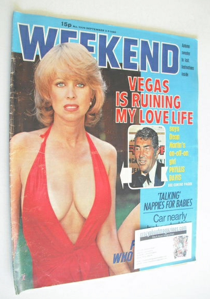 <!--1980-09-03-->Weekend magazine - Phyllis Davis cover (3-9 September 1980