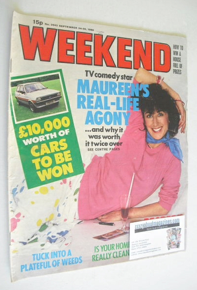 <!--1980-09-24-->Weekend magazine - Maureen Lipman cover (24-30 September 1