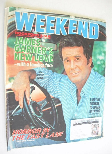 <!--1980-10-22-->Weekend magazine - James Garner cover (22-28 October 1980)
