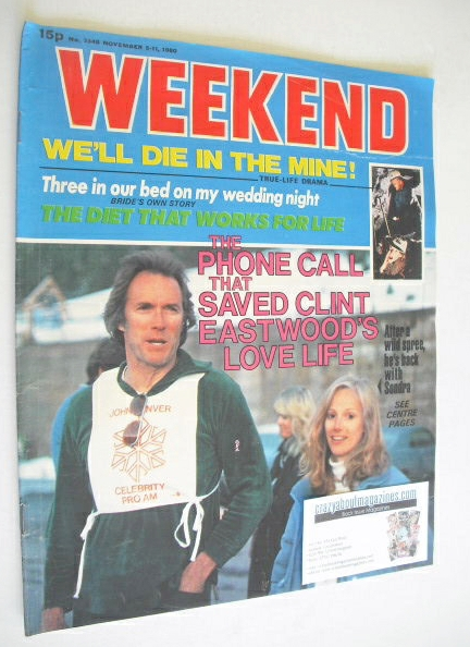 <!--1980-11-05-->Weekend magazine - Clint Eastwood cover (5-11 November 198