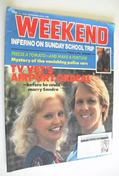 <!--1980-11-19-->Weekend magazine - Peter Davison and Sandra Dickinson cove