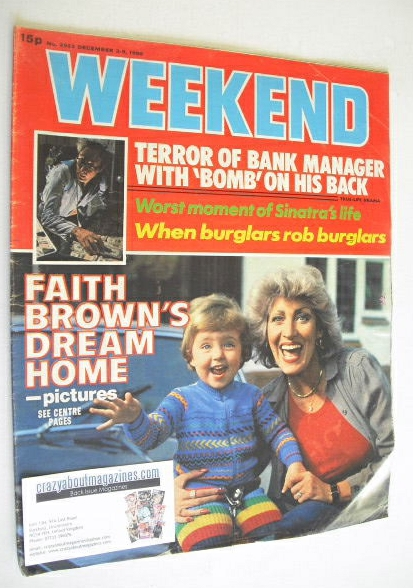 <!--1980-12-03-->Weekend magazine - Faith Brown cover (3-9 December 1980)