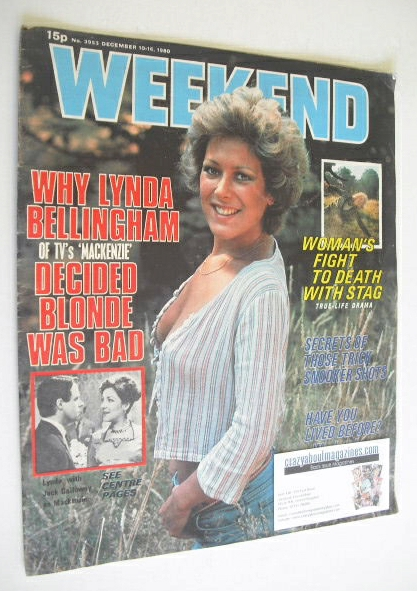 <!--1980-12-10-->Weekend magazine - Lynda Bellingham cover (10-16 December
