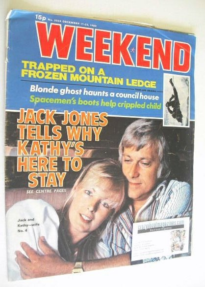 <!--1980-12-17-->Weekend magazine - Jack Jones cover (17-23 December 1980)