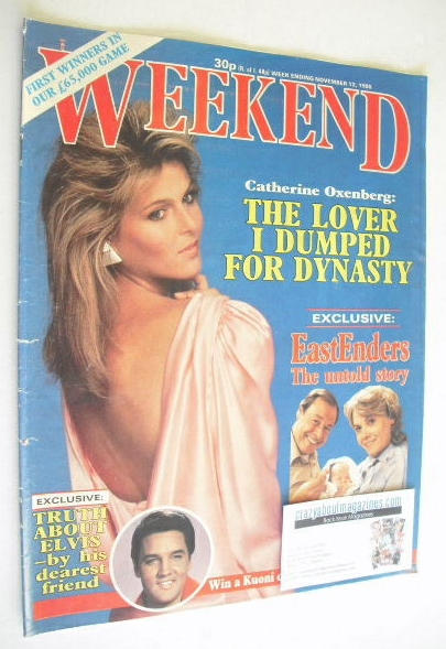 <!--1985-11-12-->Weekend magazine - Catherine Oxenberg cover (12 November 1