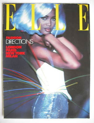 British Elle supplement - Fashion Directions 1990-1991 (Naomi Campbell cove