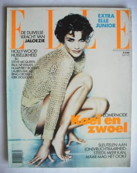 Netherlands Elle magazine - August 1992 - Helena Christensen cover