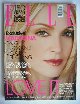 <!--2001-02-->British Elle magazine - February 2001 - Madonna cover