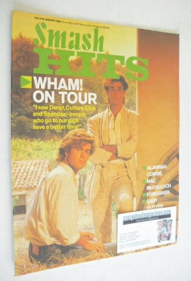 <!--1985-01-03-->Smash Hits magazine - George Michael and Andrew Ridgeley c