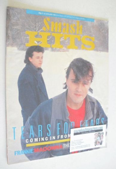 <!--1985-01-17-->Smash Hits magazine - Tears For Fears cover (17-30 January