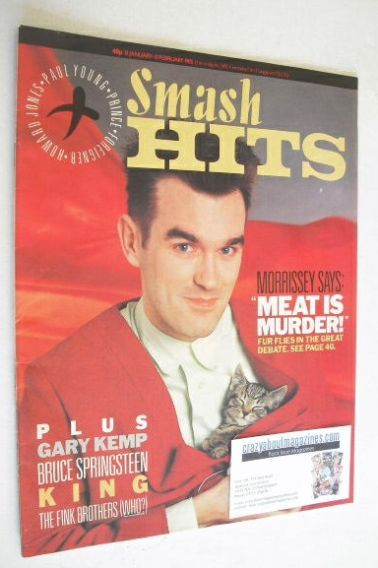 <!--1985-01-31-->Smash Hits magazine - Morrissey cover (31 January - 13 Feb