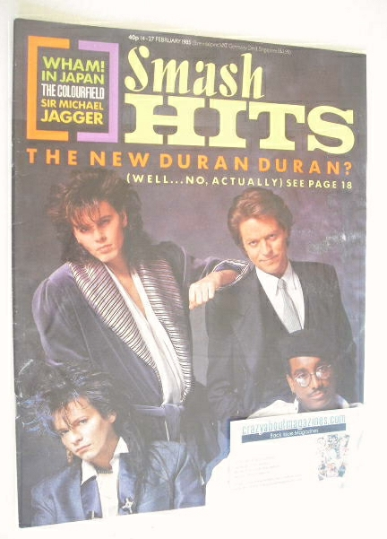 <!--1985-02-14-->Smash Hits magazine - John Taylor, Andy Taylor, Robert Pal