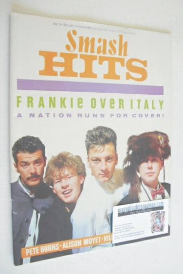 <!--1985-02-28-->Smash Hits magazine - Frankie Goes To Hollywood cover (28