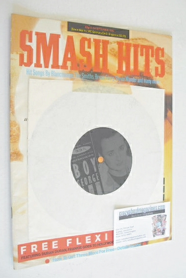<!--1985-09-11-->Smash Hits magazine - Andrew Ridgeley cover (11-24 Septemb