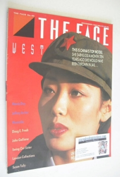 The Face magazine - China's Top Model cover (December 1985 - Issue 68)