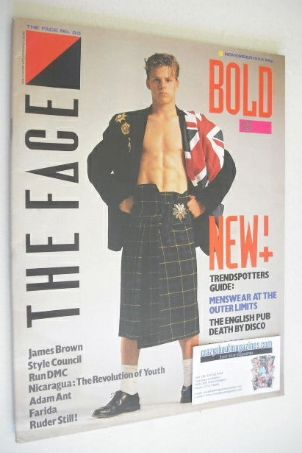 <!--1984-11-->The Face magazine - Menswear cover (November 1984 - Issue 55)