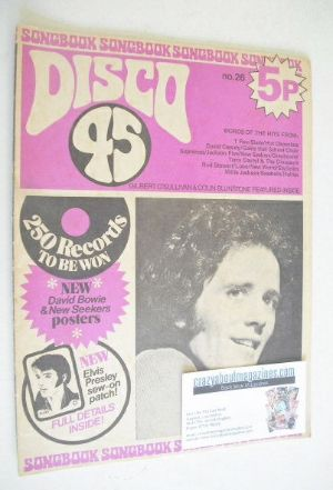 <!--1972-12-->Disco 45 magazine - No 26 - December 1972 - Gilbert O'Sulliva