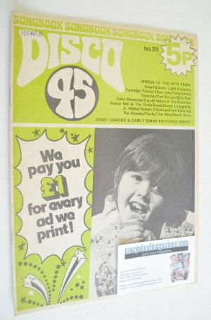 <!--1973-02-->Disco 45 magazine - No 28 - February 1973 - Jimmy Osmond cove