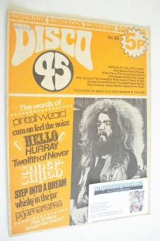 Disco 45 magazine - No 29 - March 1973 - Roy Wood cover
