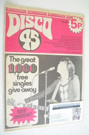 <!--1973-04-->Disco 45 magazine - No 30 - April 1973 - David Cassidy cover